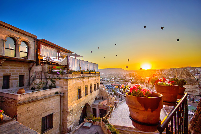 Hot air balloons in Cappadocia